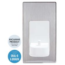 Electric Toothbrush Wall Charger Single Brushed Steel - Brushed Steel