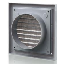"""Grey Vent Grille Fixed Louvre - 4"""" 100mm"""