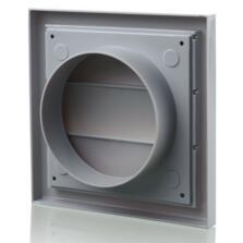 """Grey Fan Vent Grille Gravity Louvre - 4"""" 100mm"""
