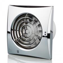 "Chrome Quiet Extractor Fan 4"" 100mm"