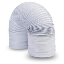 "White Flexible PVC Ducting  - 4"" 100mm x 3m Pack"
