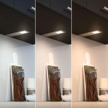 Astro Triotone Under Cabinet Light Aluminium - Single Light Colour Adjustable