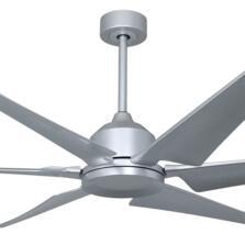 "Titan Turbine Brushed Titanium Ceiling Fan 82"" - Without Light"