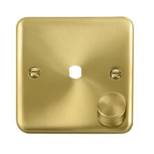 Curved Satin Brass Empty Dimmer Switch