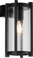 Matt Black Cylinder Outdoor Wall Light IP54