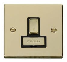 Polished Brass Switched Fused Spur 13A Ingot