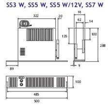Smiths SS5/Dual Fuel Hydronic Plinth Heater - SS5/Dual - Max. 1.7kW (5800Btu) - Room Size 37m3