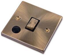 Antique Brass 20A DP Isolator