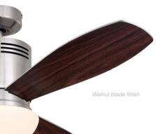 "Westinghouse Combo Ceiling Fan with Light - 52"" Brushed Steel"