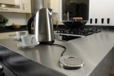 Sensio pod Stainless Steel Pop Up Socket - Steel Finish