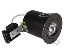 Black Nickel Fire Rated Downlight Adjustable GU10