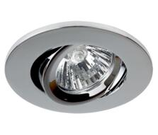 Polished Chrome Fire Rated Downlight Tilt GU10 - Fitting Only