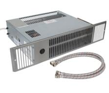 Stainless/White Central Heating Plinth Heater