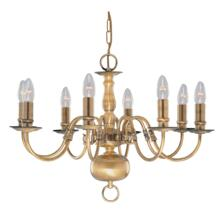 Flemish Ceiling Light - 8 Light 1019-8AB