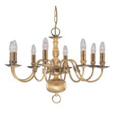 Flemish Ceiling Light - 8 Light 1019-8AB