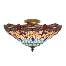 Tiffany Ceiling Light - Bronze Dragonfly 1289-16