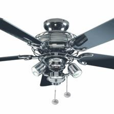 "Fantasia Gemini Ceiling Fan - Pewter  - 42"" (1070mm) With Lights"