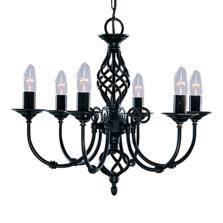 Zanzibar Ceiling Light - Matt Black 6 Light 3379-6