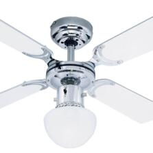 Westinghouse Portland Amb Ceiling Fan Light-Chrome