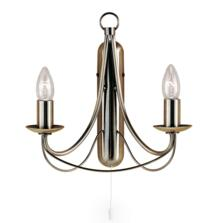 Maypole Wall Light - Ant Brass 2 Light 6342-2AB