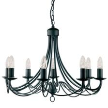 Maypole Ceiling Light - Black 8 Light 6348-8BK