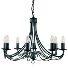 Maypole Ceiling Light - Black 8 Light 6348-8BK