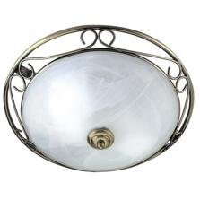 Flush Ceiling Light - Antique Brass 6436