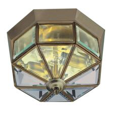 Flush Ceiling Light - Antique Brass 8235AB