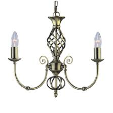 Zanzibar Ceiling Light - Ant Brass 3 Light 8393-3