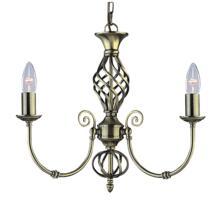 Zanzibar Ceiling Light - Ant Brass 3 Light 8393-3