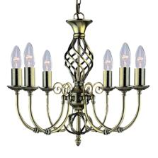 Zanzibar Ceiling Light - Ant Brass 6 Light 8396-6