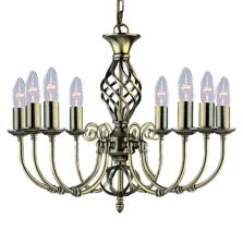 Zanzibar Ceiling Light - Ant Brass 8 Light 8398-8