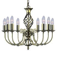 Zanzibar Ceiling Light - Ant Brass 8 Light 8398-8