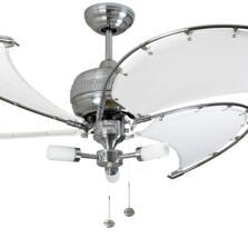 """Fantasia Spinnaker Combi 40"""" Ceiling Fan - S/Steel - White"""