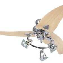 Global Scorpion Ceiling Fan with Light - Chrome