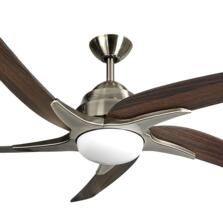 "Fantasia Viper Plus 44"" Ceiling Fan - Antique Brass - Dark Oak Blades & 2 x 60W G9 Halogen"