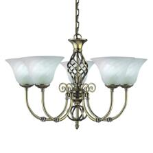 Cameroon Ceiling Light - Ant Brass 5 Light 975-5