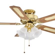 Fantasia Belaire Combi Ceiling Fan - Polished Brass