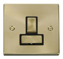 Satin Brass Switched Fused Spur 13A Ingot
