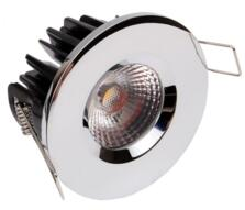 LED Fire-Rated Fixed Downlight 8w/10w - Chrome - 8w