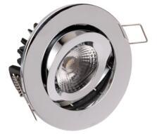 LED Fire-Rated Tilt Downlight 8w/10w - Chrome