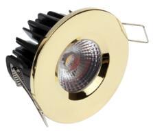 LED IP65 Fixed Shower / Bath Downlight 8w/10w - Brass