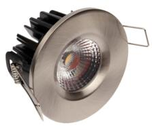 LED IP65 Fixed Shower/ Bath 8w/10w Downlight - Brushed Nickel