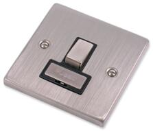 Stainless Steel Fused Spur Black Insert