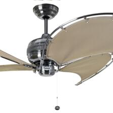 "Fantasia Spinnaker 52"" Ceiling Fan - Stainless Steel/Stone"