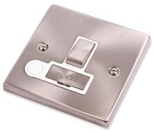 Satin Chrome Switched Fused Spur 13A Ingot & Flex