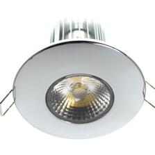 10w LED Fire-Rated Downlight - Polished Chrome