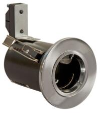 Brushed Chrome Di-Cast Fire-Rated Downlight