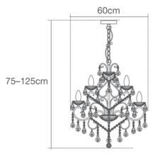 Vela 9 Light Chrome Chandelier IP44 252W - Glass