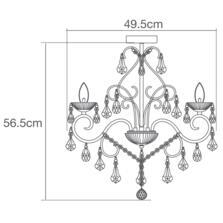 Vela 5 Light Chrome Chandelier IP44 140W - Glass